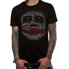 Batman The Dark Knight Joker HA Outline Mens T-shirt Licensed Top Black M