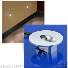2pcs 1W LED Spot Coin Mur Escalier Lampe Encastrable Mural Luminaire Blanc froid