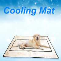 Pet Ice Silk Bed Cooling Pad Dog Puppy Cat Mat Summer Chilly Non Toxic M L