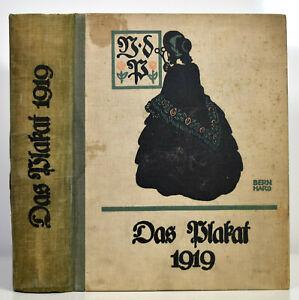 Das Plakat. Zeitschrift d. Vereins d. Plakatfreunde (1919). Hefte 1-6 (komplett)