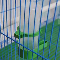 1x Plastic Pet Bird Parrot Drinker Feeder Poultry Drink Water Bottle Cup