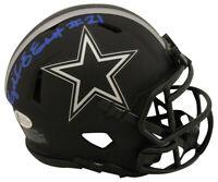 Ezekiel Elliott Autographed/Signed Dallas Cowboys Eclipse Mini Helmet BAS 26972