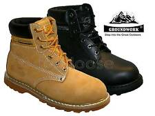 LADIES WORK BOOTS, WOMENS WORK BOOTS BY GROUNDWORK WITH STEEL TOE CAPS SIZES 3-6