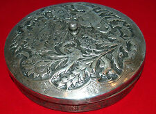 ORIENTAL  900  SILVER CANDY   WITH TOP  QAJAR  19 C BIRD DESIGN RARE,BY:MAHMOUD
