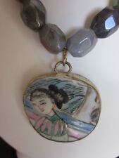 New Fancy Jasper   Ming/Ching Pottery  Shard Necklace