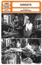FICHE CINEMA : GUINGUETTE - Jeanmaire,Meurisse,Pascal,Delannoy 1959