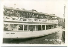 1942 Deep Sea Fishing Excursion - Miami  1942 Biscayne