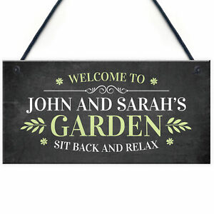 Personalised Welcome Garden Signs Home Decor Sign For Garden Shed Plaques