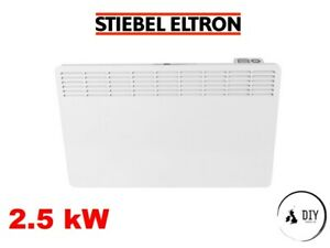 Stiebel 2.5kw Electric Panel Heater Convector Timer Thermostat 2500 Wall Mounted