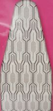 "Cushioned Scorch Resistant Ironing Board Cover & Pad (54"" board) Grey Design, Ki"