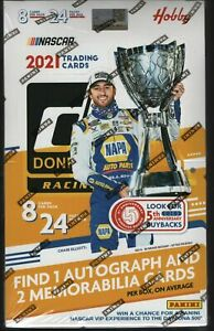 IN STOCK 2021 Panini Donruss Racing Sealed Hobby Box 24 Packs with 3 Hits!