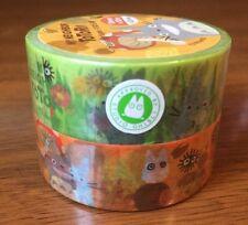 Studio Ghibli Official TOTORO Washi Tape Masking 2 Rolls JAPAN [US Seller]