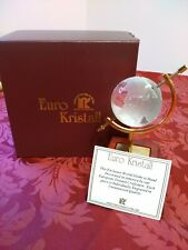 Euro Kristall Globe Hand Decorated In The USA