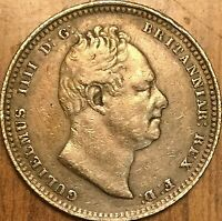 1834 GREAT BRITAIN SHILLING WILLIAM IV SILVER COIN