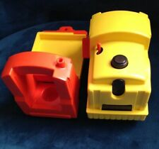 Vintage Fisher Price Little People Lift & Load Railroad Train Engine & Car