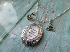HARRY POTTER inspired after all this time oval Locket Silver Necklace fan gift