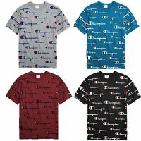 Champion Life Men's Heritage Tee, All Over Logo Multi Scale Script T-Shirt