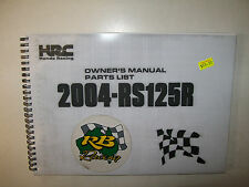 HRC- RS125 (2004) Owners/Parts Manual