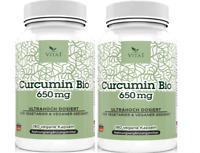 Bio Kurkuma + Bioperine 180 Kapseln 3600 mg pro Tag Curcuma Curcumin Turmeric