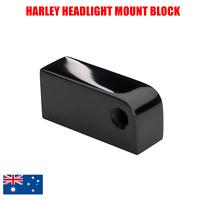 Black CNC headlight mount bracket block Harley softail dyna breakout glide FXST