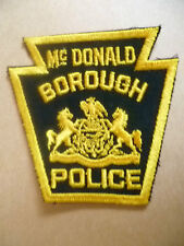 Patches: McDONALD BOROUGH POLICE PATCH (NEW* apx.10x10 cm)