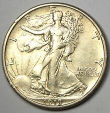1918-S Walking Liberty Half Dollar 50C Coin - AU Details - Rare Date Coin!