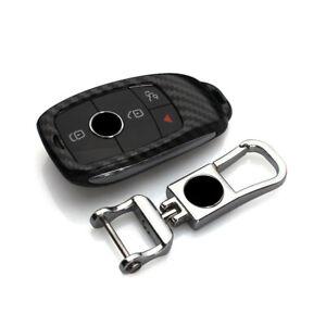 Carbon Fiber Car Key Fob Case Cover Shell For Mercedes Benz A C E W221 W205 W213