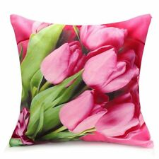 Rose / Peony Flower Floral Print Throw Pillow Case Cushion Cover Home Sofa K6P9