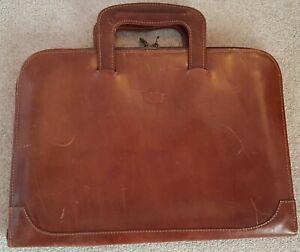 Vintage Valentino Master Italian Vera Pelle brown leather unisex briefcase