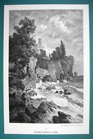 HERO Priestess of Aphrodite Jumps from Cliff to Sea - 1890s Victorian Era Print