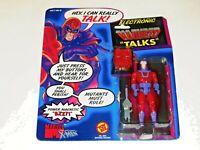 1991 MARVEL UNCANNY X-MEN MAGNETO ELECTRONIC TALKS TOY BIZ ACTION FIGURE!