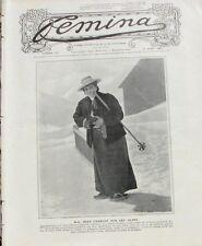 Femina n°174 -  1908 - Mme Jean Charcot sur les Alpes - A l'assaut des Dolomites
