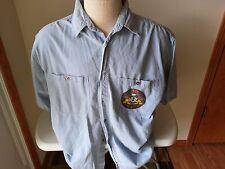 Harley Davidson light blue short sleeve shirt, 10 year HOG anniversary - mens L