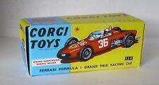 Repro Box Corgi Nr.154 Ferrari Formula 1 Racing Car