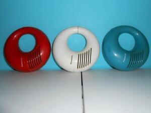 3 Panasonic R72 Toot A Loop Radios Red White & Blue - Working Retro Mid Century