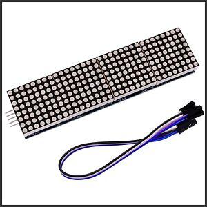 Dot Matrix Modul 8x8 Display Arduino 4 Matrix LED ROT Arduino Raspberry Pi
