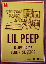 LIL PEEP 2017 Gig POSTER Berlin Germany Concert