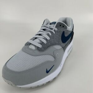 Nike Mens Air Max 1 City Pack London Running Shoes Gray CV1639-001 8.5M New