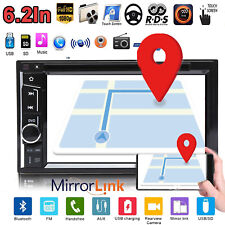 6.2Inch Touch Car Stereo DVD CD Player BT Hands-Free Mirror For GPS FM Radio USB