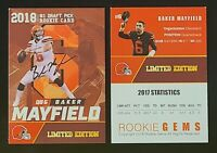 Baker Mayfield Cleveland Browns 2018 Limited Edition Rookie Card. #1 Draft Pick