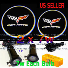 2x7w Ghost Shadow Laser Projector Logo Courtesy LED Light Door Step for CORVETTE