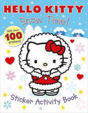 Hello Kitty ___ Nieve Time! ___ Pegatina Actividad Libro _ Nuevo ___ Envío