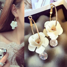 Korean Bontique Statement Large Stud Flower Earrings Women Fashion Exaggerated