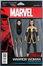 SQUADRON SUPREME #9 - ACTION FIGURE VARIANT -  BAGGED AND BOARDED. FREE UK P+P