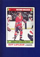 Guy Lafleur RB HOF 1977-78 O-PEE-CHEE OPC Hockey #216 (GOOD) Montreal Canadiens