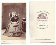 CDV Photograph Lady with Woven Bag Carte de Visite by Villiers of Newport, Mon