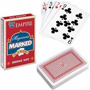 SECRET MARKED PLAYING CARDS MAGIC TRICKS POKER FUN MENS BOYS BIRTHDAY PRESENT