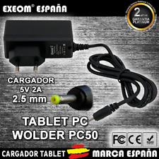 Cargador para Tablet WOXTER PC50 2000 MAH WALL CHARGER 2.5mm 5v 2000mah 2A