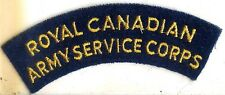 Canadian Army Royal Canadian Army Service Corps Battle Dress Shoulder Flash