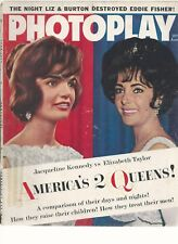 JUNE 1962 PHOTOPLAY JACKIE, LIZ,  **